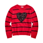 Epic Threads Girls Sequin Heart Pullover Sweater