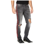 I-N-C Mens Ripped Side Stripe Skinny Fit Jeans