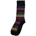 Alfani Mens Alfa Tech Striped Dress Socks