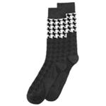 bar III Mens Houndstooth Dress Socks