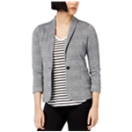 maison Jules Womens Casual One Button Blazer Jacket
