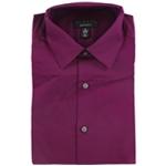 Alfani Mens AlfaTech Solid Button Up Dress Shirt