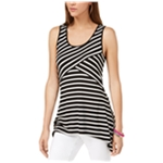 I-N-C Womens Striped Tank Top