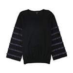 Alfani Womens Metallic Fringe Pullover Sweater