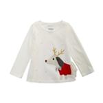 First Impressions Girls Reindeer Dog Embellished T-Shirt