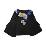 Alfani Womens Pleated Pullover Blouse
