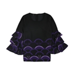Alfani Womens Printed Tiered-Sleeve Zip-up Blouse