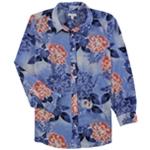 Charter Club Womens Floral Button Up Shirt