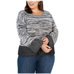 Style & Co. Womens Boxy Colorblock Pullover Sweater