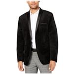 I-N-C Mens Velvet Two Button Blazer Jacket