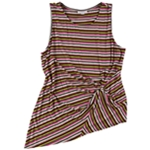 bar III Womens Striped Twist Tank Top