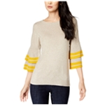 I-N-C Womens Tiered Sleeve Pullover Sweater