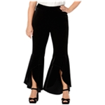 I-N-C Womens Velvet Casual Wide Leg Pants