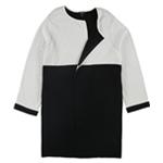 Alfani Womens Colorblocked Open-Front Cardigan Sweater