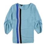 Alfani Womens Smock-Sleeve Pullover Blouse