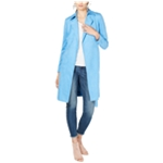 I-N-C Womens Suede Trench Coat