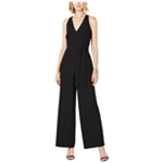 I-N-C Womens Belted V Neck Cut Out Jumpsuit