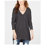 I-N-C Womens V-Neck Sweater Tunic Blouse