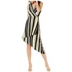 I-N-C Womens Striped Wrap Dress