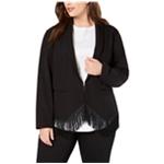 I-N-C Womens Fringed Blazer Jacket
