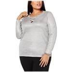 I-N-C Womens Crisscross Cutout Pullover Blouse