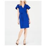 I-N-C Womens Flare Sleeve Sheath Dress