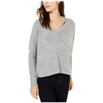 I-N-C Womens Ribbed Sleeve Knit Blouse