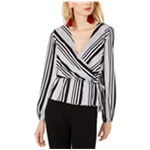 I-N-C Womens Variegated Wrap Blouse