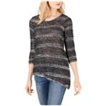 I-N-C Womens Metallic Tunic Sweater