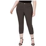 I-N-C Womens Ruched Hem Casual Cropped Pants