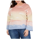I-N-C Womens Intarsia Pullover Sweater
