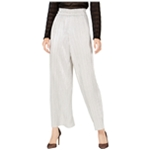 I-N-C Womens Metallic Pleated Casual Wide Leg Pants