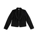 bar III Womens Zippered Blazer Jacket