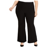 I-N-C Womens Mid Rise Flare Casual Wide Leg Pants
