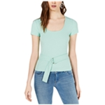 bar III Womens Belted Knit Blouse