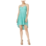 Material Girl Womens Molded Cup High-Low Dress