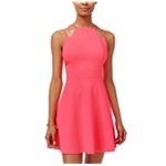 Material Girl Womens Quilted A-line Dress