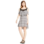 Material Girl Womens Cold-Shoulder Illusion High-Low Dress