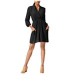 bar III Womens Faux-Wrap A-line Dress