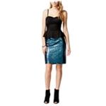 Material Girl Womens Sequined Peplum Bodycon Dress