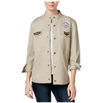 Seven Sisters Womens Patched Military Jacket