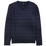 Alfani Mens Black Striped Pullover Sweater