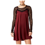 Material Girl Womens 2pc Lace Slip Dress
