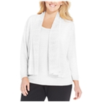 Jones New York Womens Pointelle Cardigan Sweater