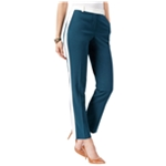 Anne Klein Womens Slim Colorblocked Casual Trousers