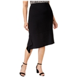 Anne Klein Womens Asymmetrical Hem A-line Skirt