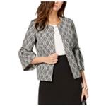 Kasper Womens Bell Sleeve Blazer Jacket