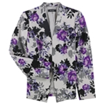 Nine West Womens Crepe Collarless Blazer Jacket