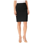 Nine West Womens Solid Stretch A-line Skirt