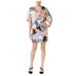 bar III Womens Printed Shift Dress